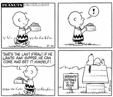 #thepeanuts #pnts #peanuts #schulz #snoopy #charliebrown #supper #servants