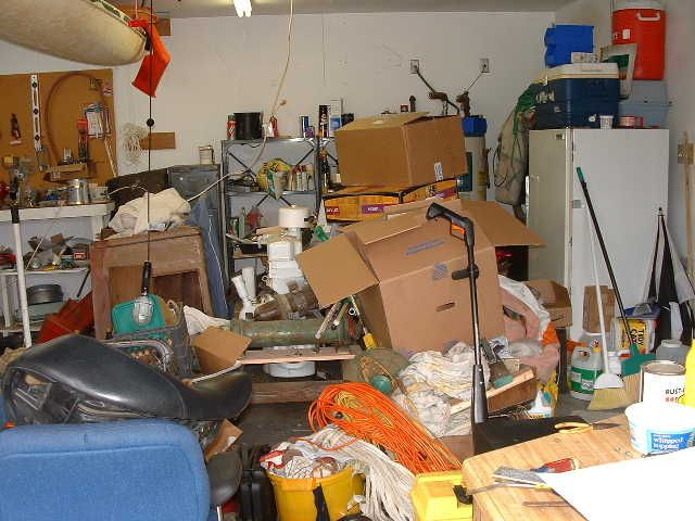 Man Vs Garage By Chris Zito Attic Storage Rent A Dumpster Projects