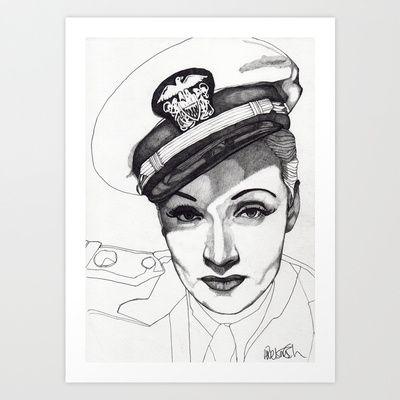 Marlene Dietrich Art Print by Expeditionary Club - Paul Nelson-Esch - $18.00