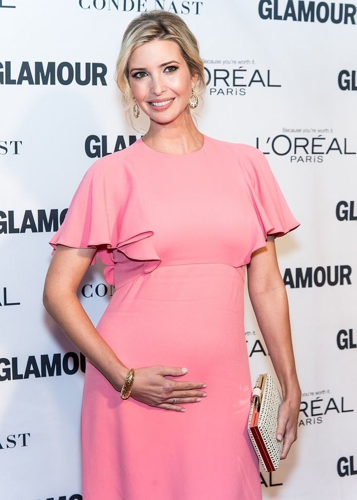 Ivanka Trump Shows off Her Growing Baby Bump at the 2015 'Glamour' Women of