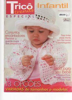 Receita Tricô Fácil   Revista TRICÔ TRENDS Infantil Especial   Revista Online Tricô e Crochê   Conjuntos encantadores renove o guarda rou...