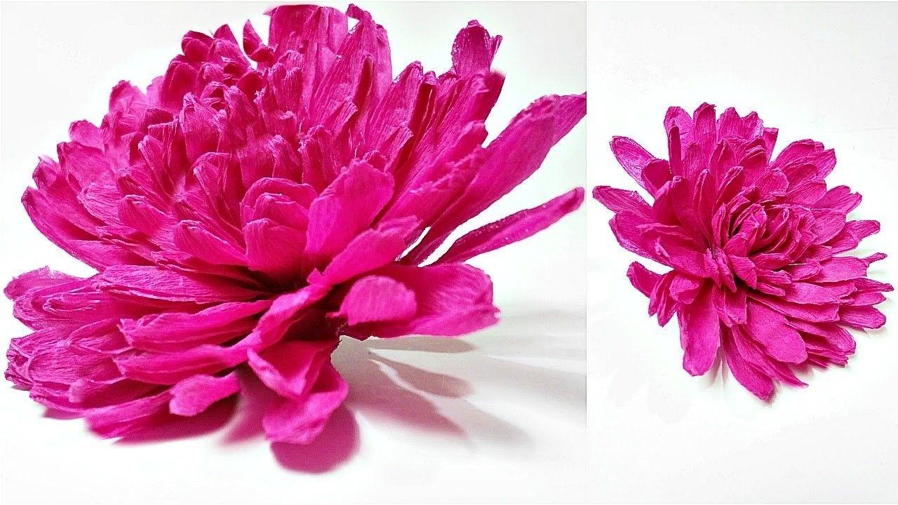 Dahlia crepe paper flower diy making tutorial paper flowers easy dahlia crepe paper flower diy making tutorial paper flowers easy for kidsfor beginners mightylinksfo