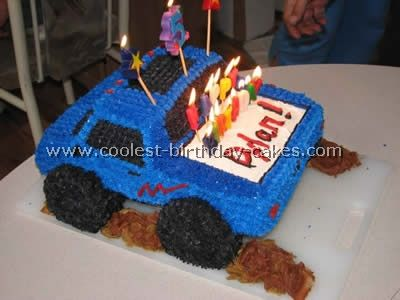 Coolest Monster Truck Picture Cakes Monster trucks Monsters and