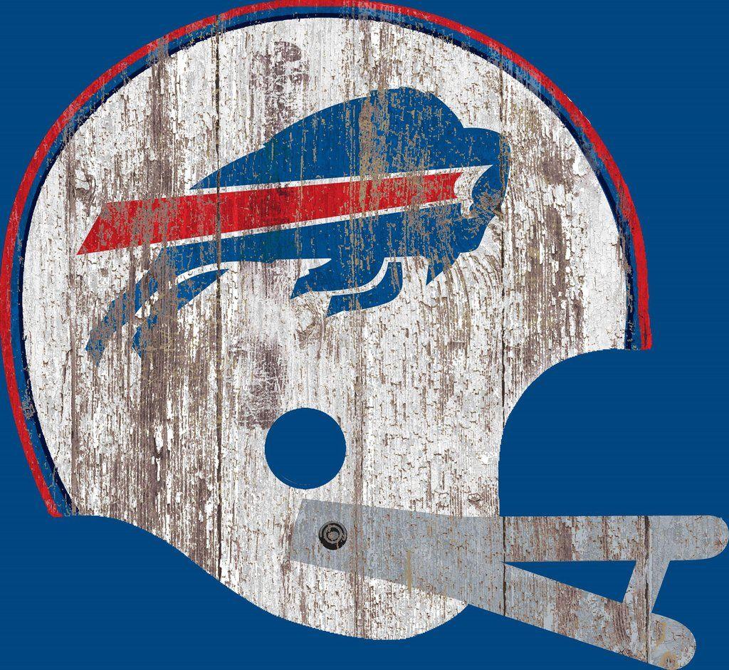 Buffalo bills sign large wood helmet buffalo bills