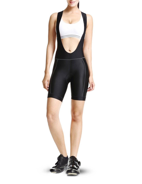 Women S 3d Padded Bicycle Cycling Bib Shorts Upf 50 Black