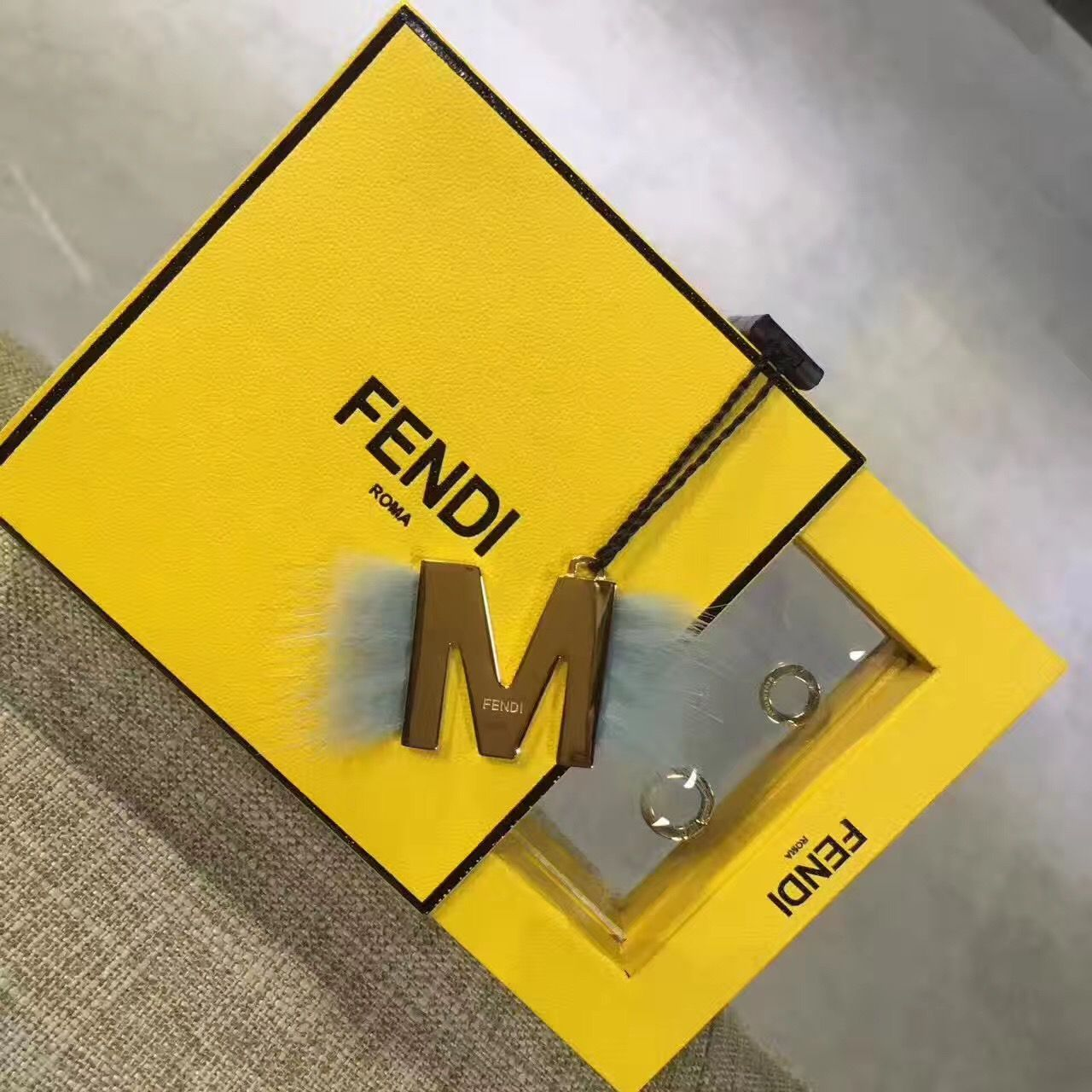 Fendi letter necklace inviview fendi letters necklace bag charms keychain jewelry aloadofball Gallery