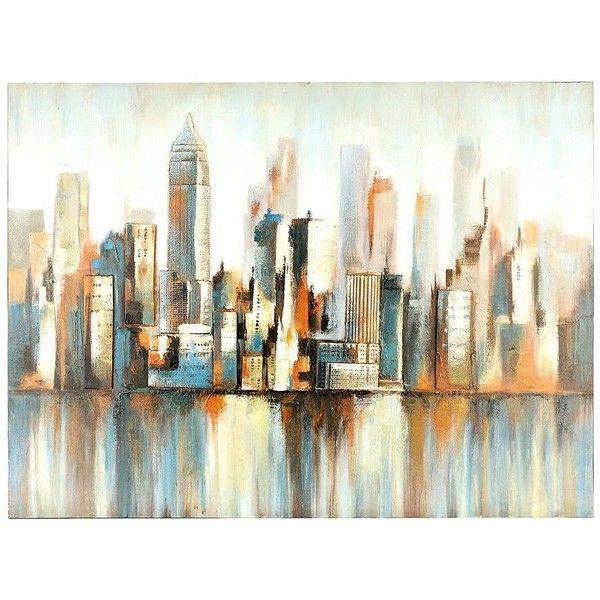 Blur cityscape canvas art print 90 ❤ liked on polyvore featuring home home decor wall art canvas wall art stretched canvas canvas home decor