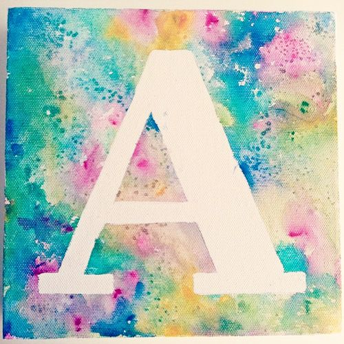 Canvas Painting With Tape: Creating A Space Of Their Own: Tape Art Monogram