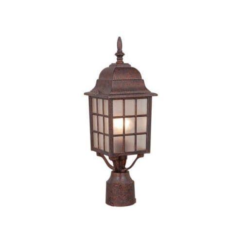 Vaxcel Lighting Op36765 Vista 1 Light Outdoor Post Royal Bronze Gold