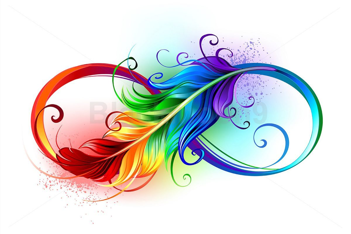 Infinity Symbol with Rainbow Feather is part of Rainbow tattoos - Download Infinity Symbol with Rainbow Feather today! We have a huge range of Illustration products available  Commercial License Included