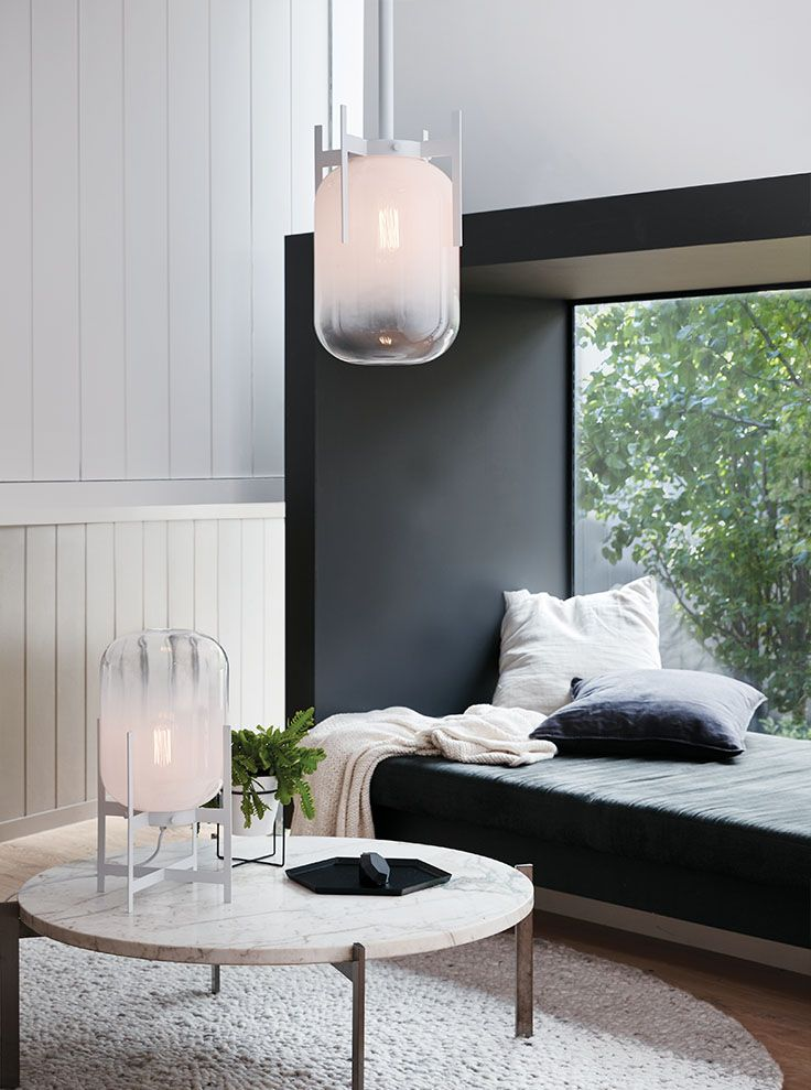 The beacon lighting lunden 1 light pendant in white with frosted lunden pendant in white beacon lightinglight aloadofball Images
