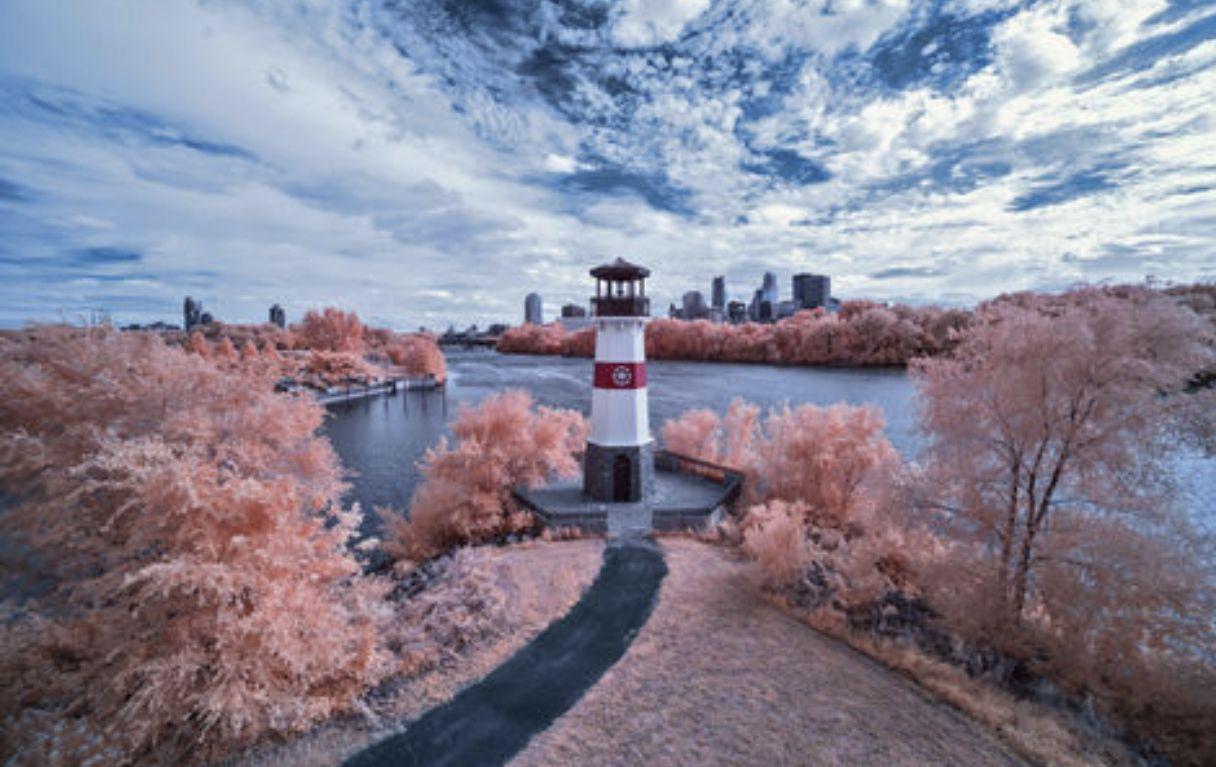 Boom Island Lighthouse Minneapolis Minnesota Minnesota
