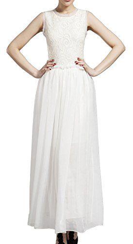 Merope J Chiffon Patchwork Sleeveless Lace Maxi Cocktail Wedding Dress(4,White) Merope J http://www.amazon.com/dp/B017G8YDKQ/ref=cm_sw_r_pi_dp_vYURwb0ZAK044