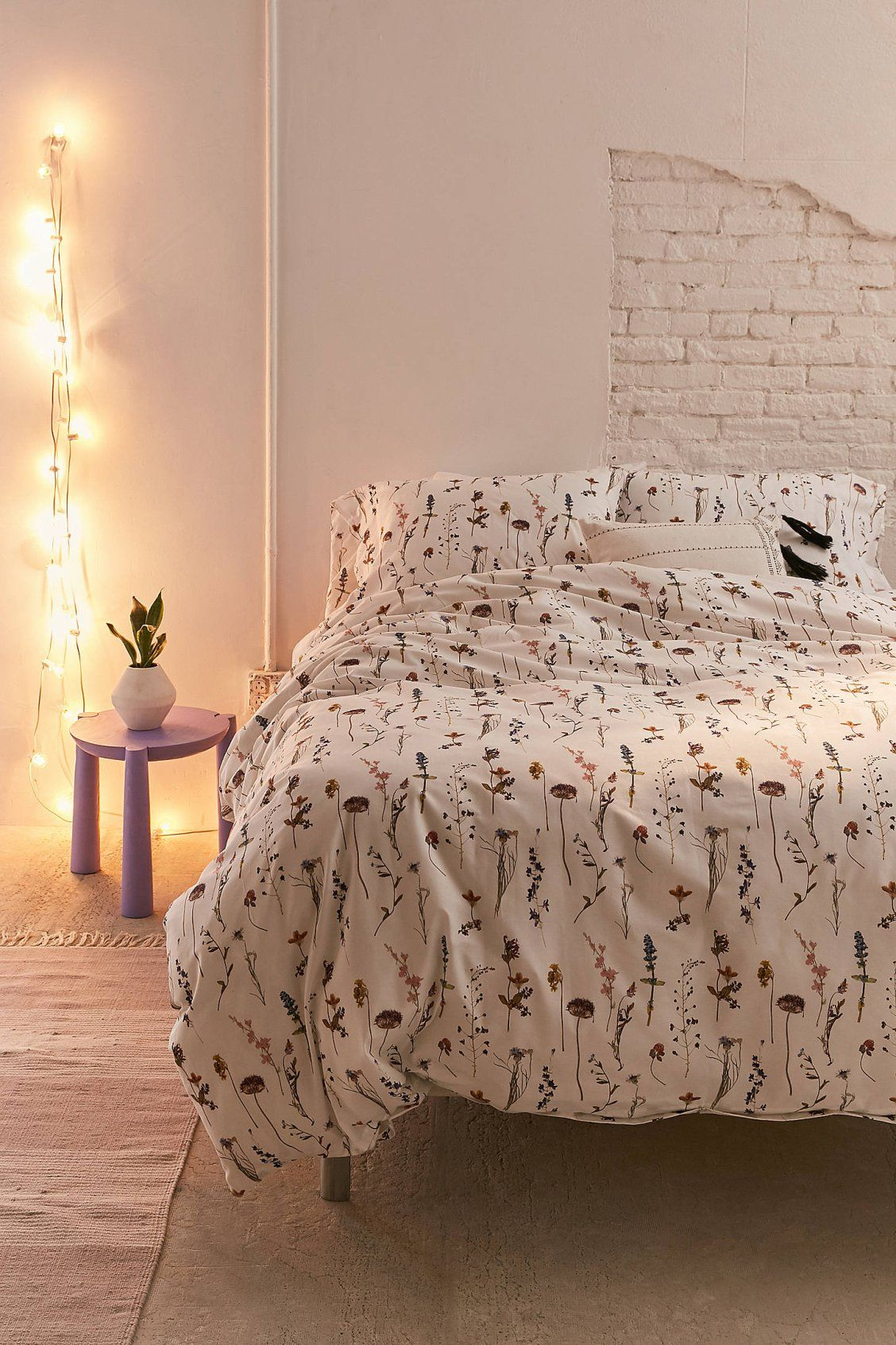 Pressed Flowers Duvet Cover Set Duvet Cover Sets Bed Linens