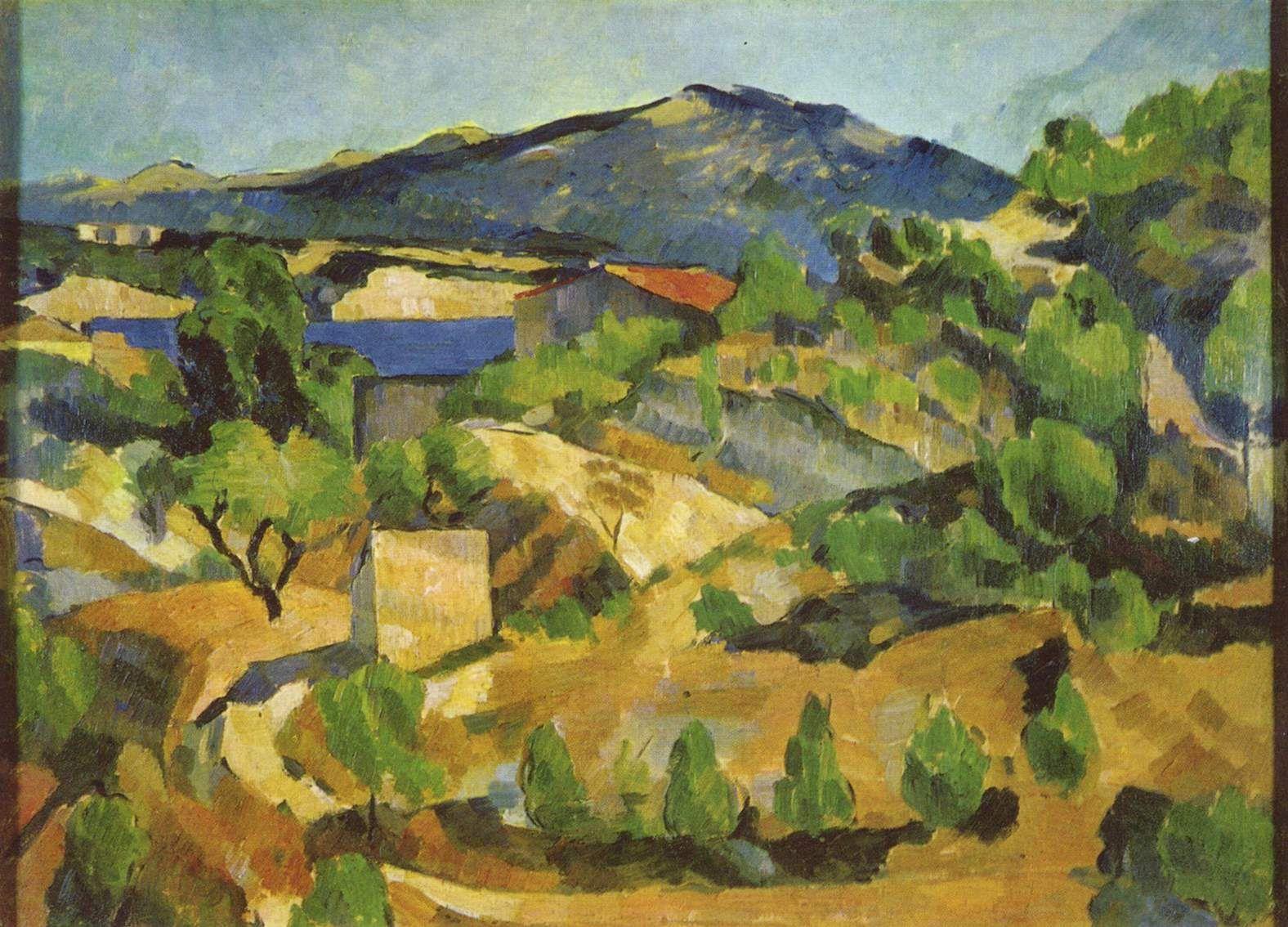 Mountains-in-provence-l-estaque. Paul Cezanne