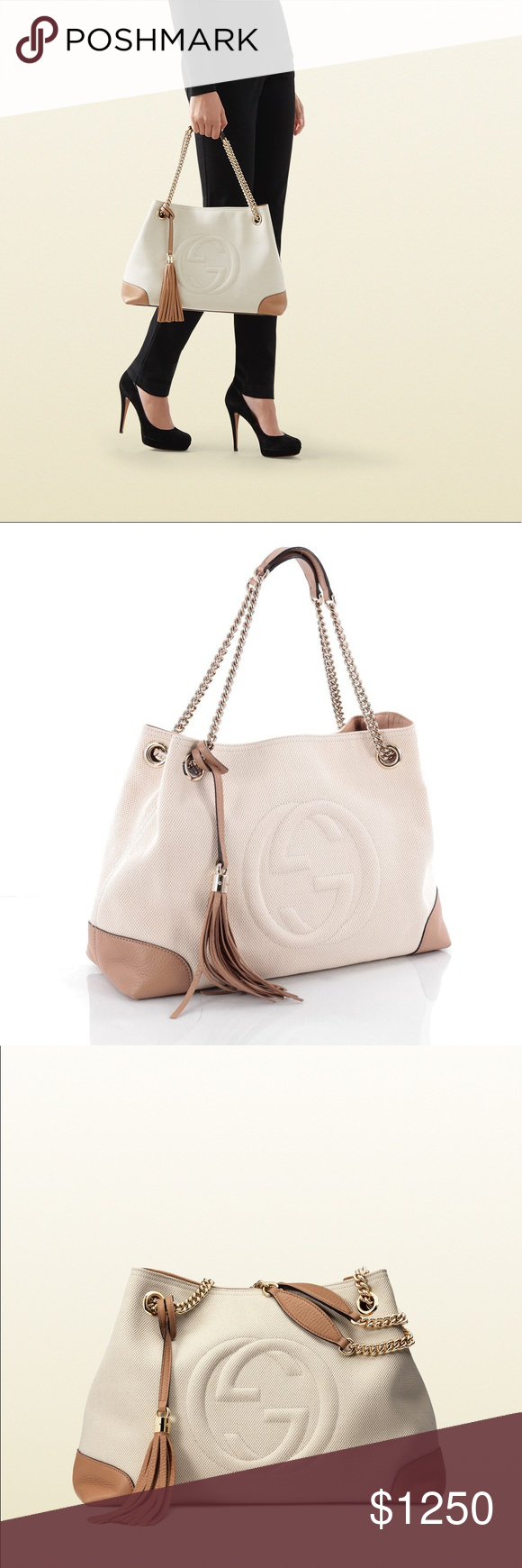 6d7c951106098f NEW Gucci Soho Chain Bag - Discontinued Authentic Gucci Soho Chain Canvas Shoulder  Bag Tote New