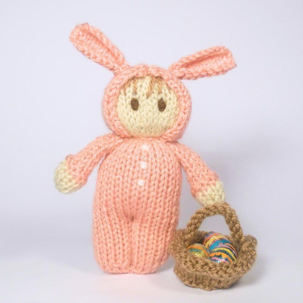 Easter Bunny Bitsy Doll knitting pattern available at LoveKnitting! Celebrate Easter with more patterns and inspiration on the LoveKnitting website.