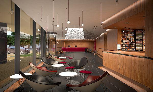MODERN OFFICE LOBBY by LESINSKA CONCEPT via Behance Designs