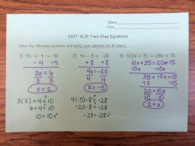 Middle School Math Rules!: Small Group Lessons on Two-Step Equations ...