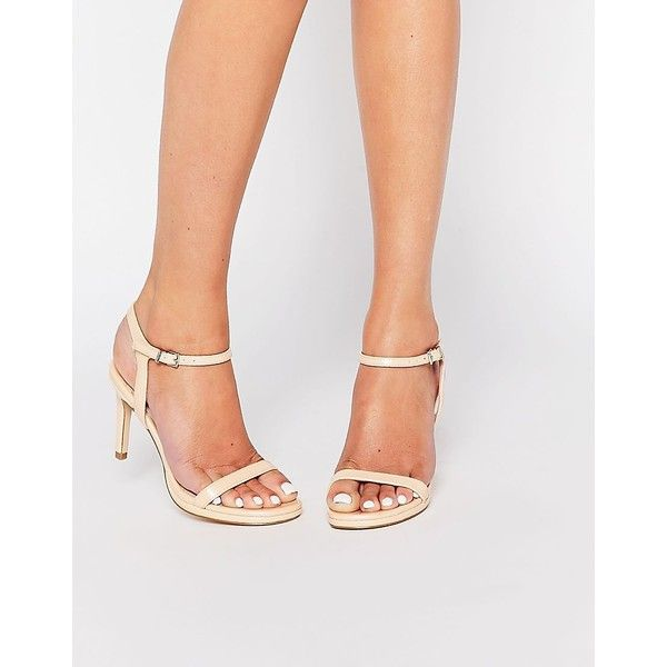 Faith Dolly Nude Barely There Sandals ($57) ❤ liked on Polyvore featuring shoes, sandals, nude, open toe sandals, faux leather sandals, nude sandals, open toe platform sandals and nude high heel sandals