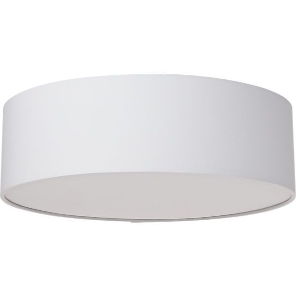 Drum Flush Mount Lamp Cb2 2 60 Watt Bulbs Halo Glow Small Changes Make A Difference Elevate The Standard Lighting Down Hall And Or Center Of