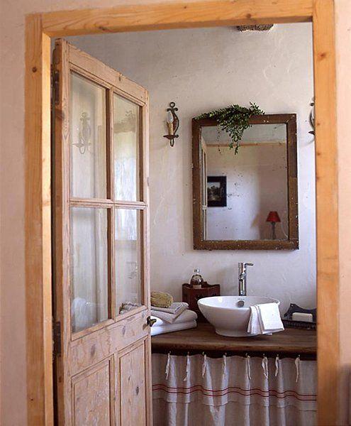 Pin de Janina en b a t h r o o m Pinterest Baños, Campo y Vivir - puertas de madera para bao