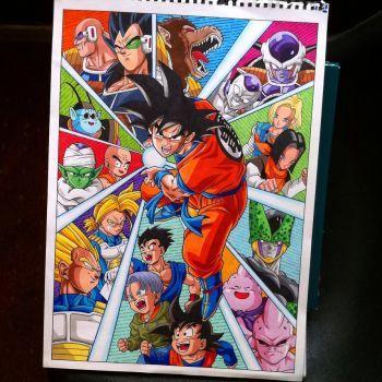 Goku Dragon Ball Z Poster By Hamdoggz Dessin Dragon Ball Z