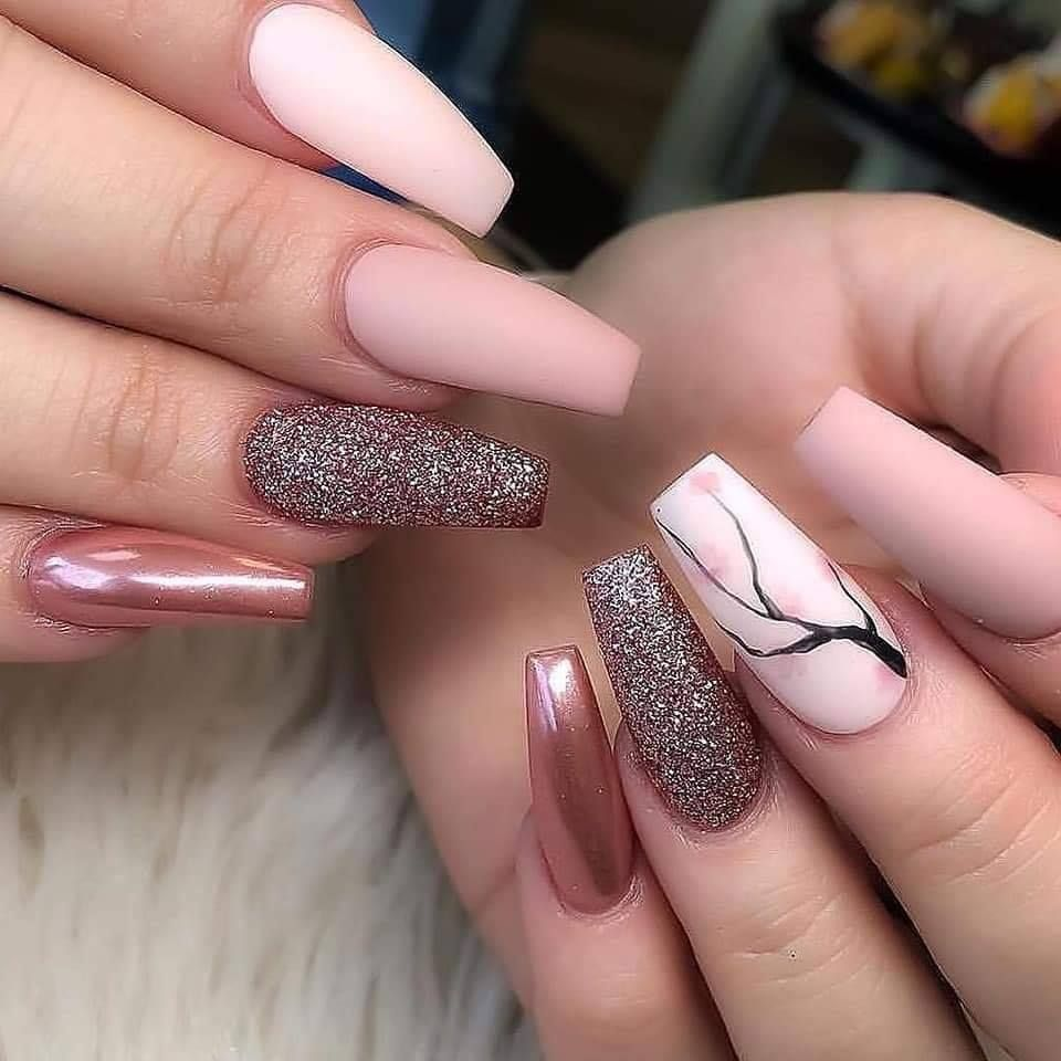 Best Chosen Acrylic Coffin Nails Design For Prom And Party