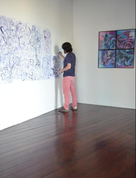 .: Exposição do artista Pedro Smith na Galeria de Arte Braz Cubas