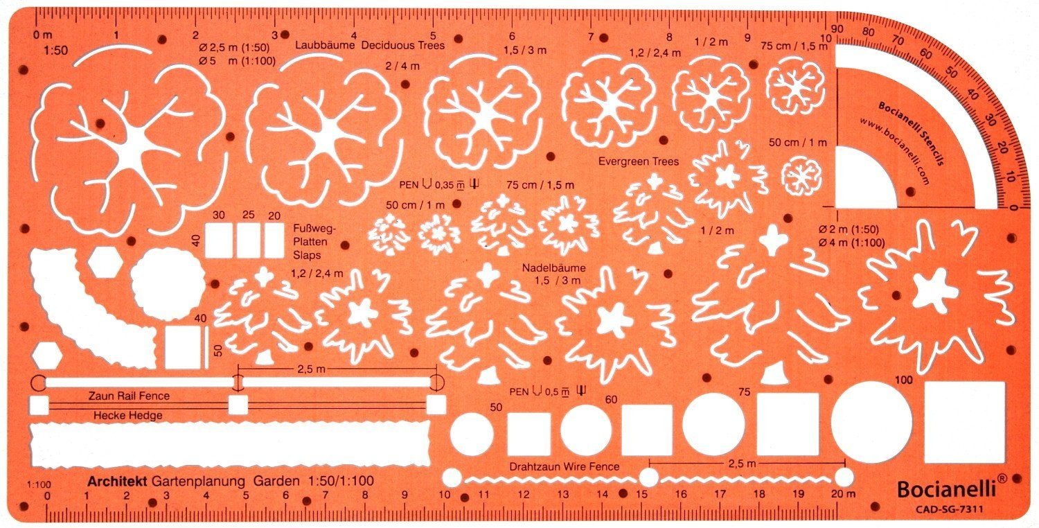 amazoncom metric architectural plants garden landscape design drawing drafting template stencil