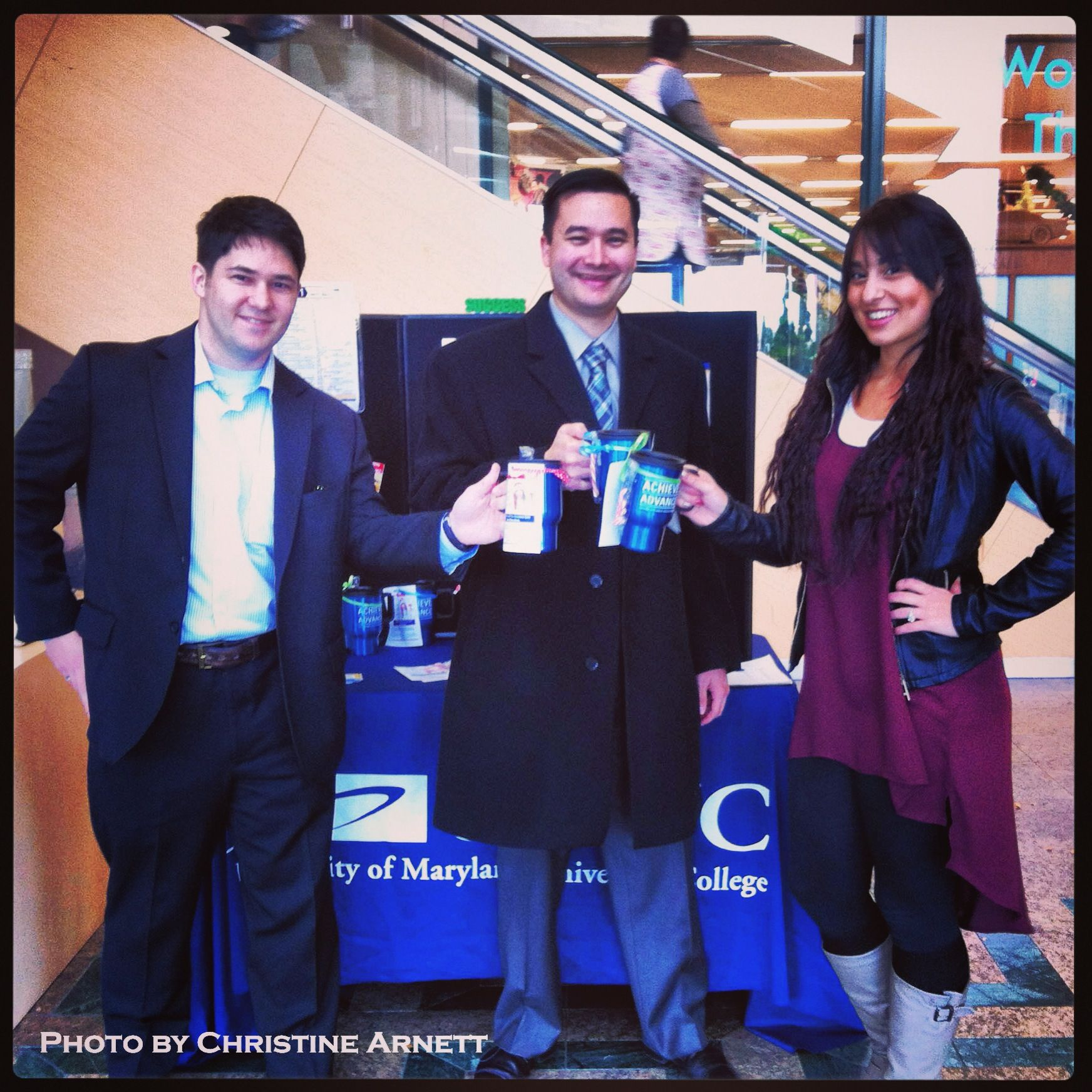 The #UMUC Japan team at the Yokota Community Center ready to help students! #UMUCPhotoOfTheDay