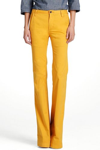 yellow high waisted jeans - Jean Yu Beauty