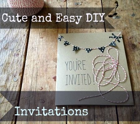 Cute And Easy DIY Invitations Via Lauren Hartmann At Disney Baby