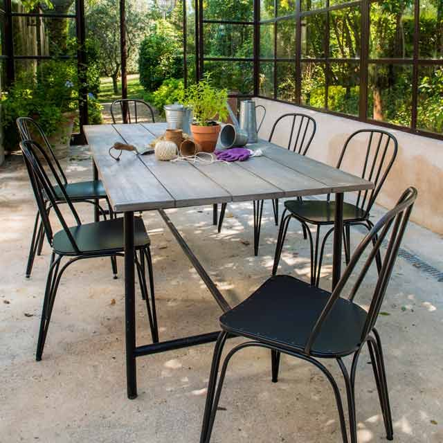 Table En Bois Atago 200 X 100 Cm - Castorama | Inspiration Jardin