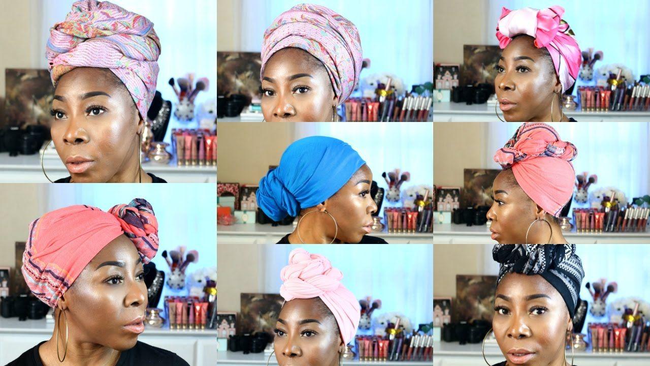 How to infinity scarf head wrap turban or gele