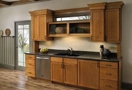 wood beadboard cabinet doors | Roxburgh Veneer Shaker ...