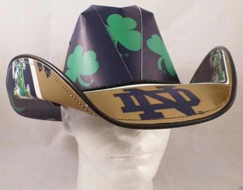Notre Dame Fighting Irish Cowboy Hat- Our Notre Dame Fighting Irish   CowboyHats made from 11de7f81a2b