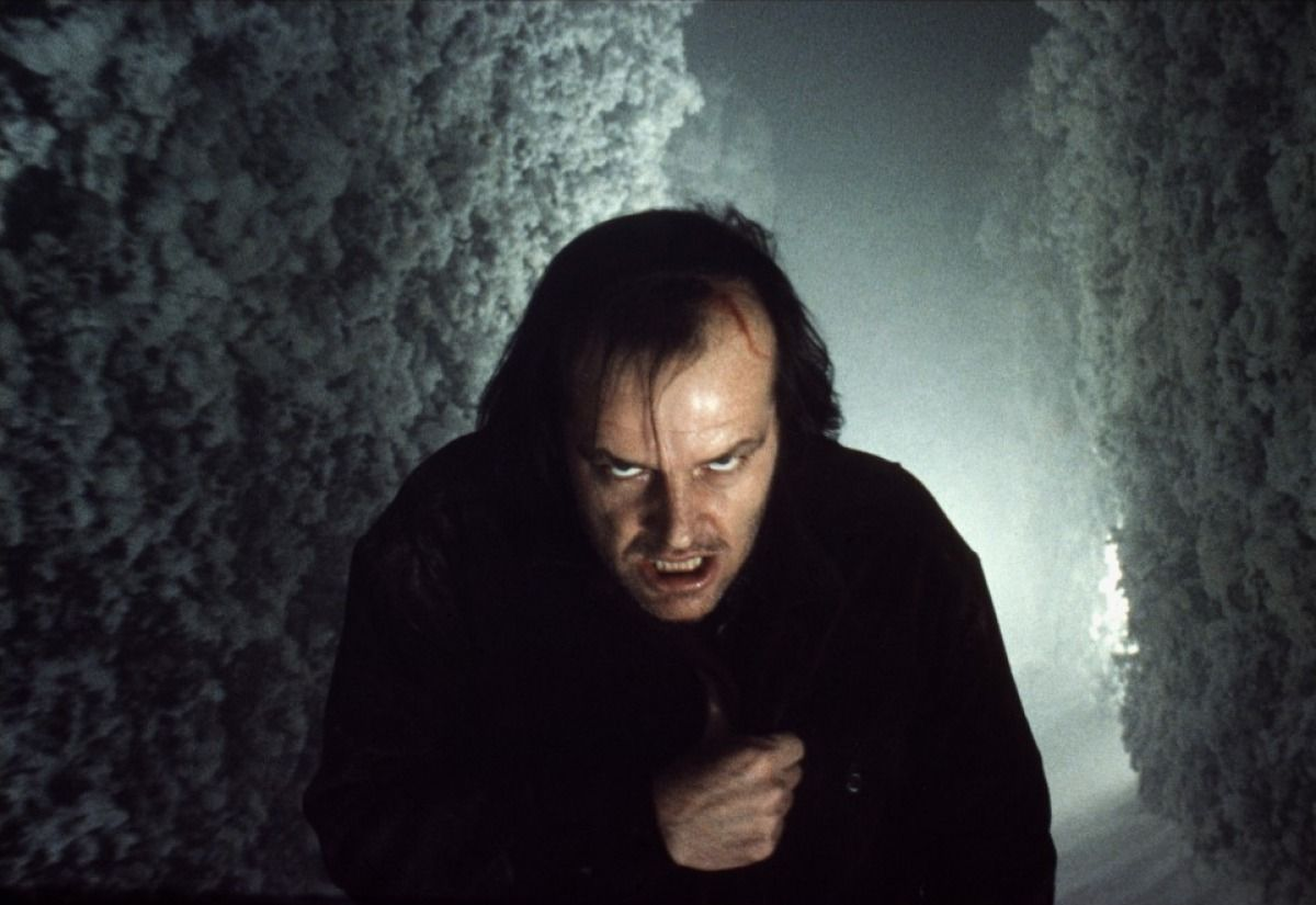 The Shining - Jack Nicholson The Kubrick stare: Man comes down to his most primitive state