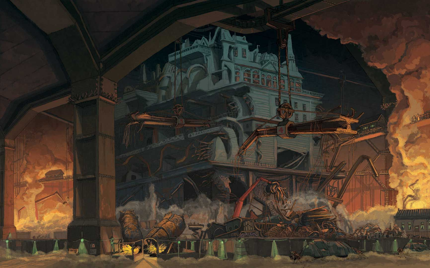 The Gut'. Mortal Engines. London the traction city giant, drags smaller towns into its undercarriage, and