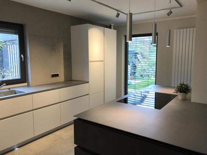küche modern betonlook beton gestaltung gestaltungsmaler