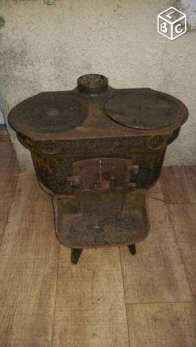 poêle à bois très rare décoration loiret - leboncoin.fr   cheminée