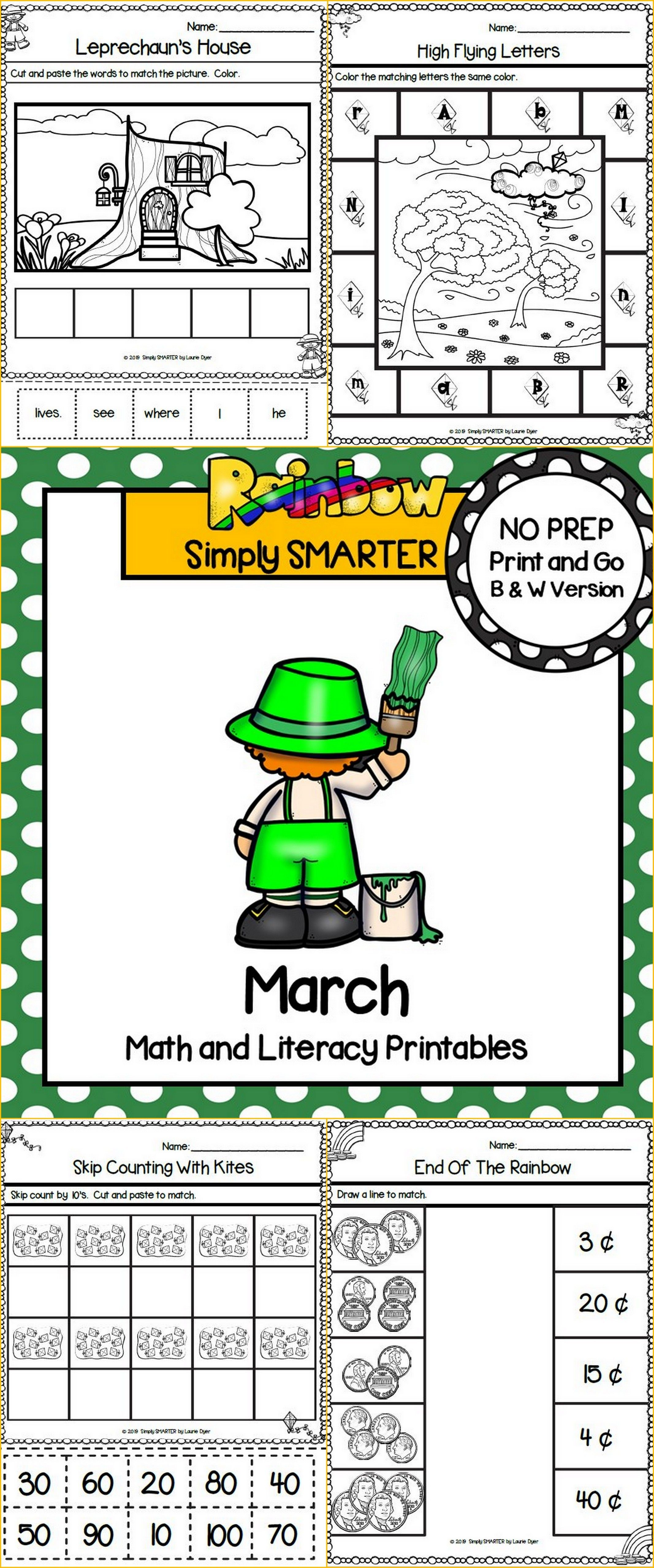March Math And Literacy Printables And Activities For