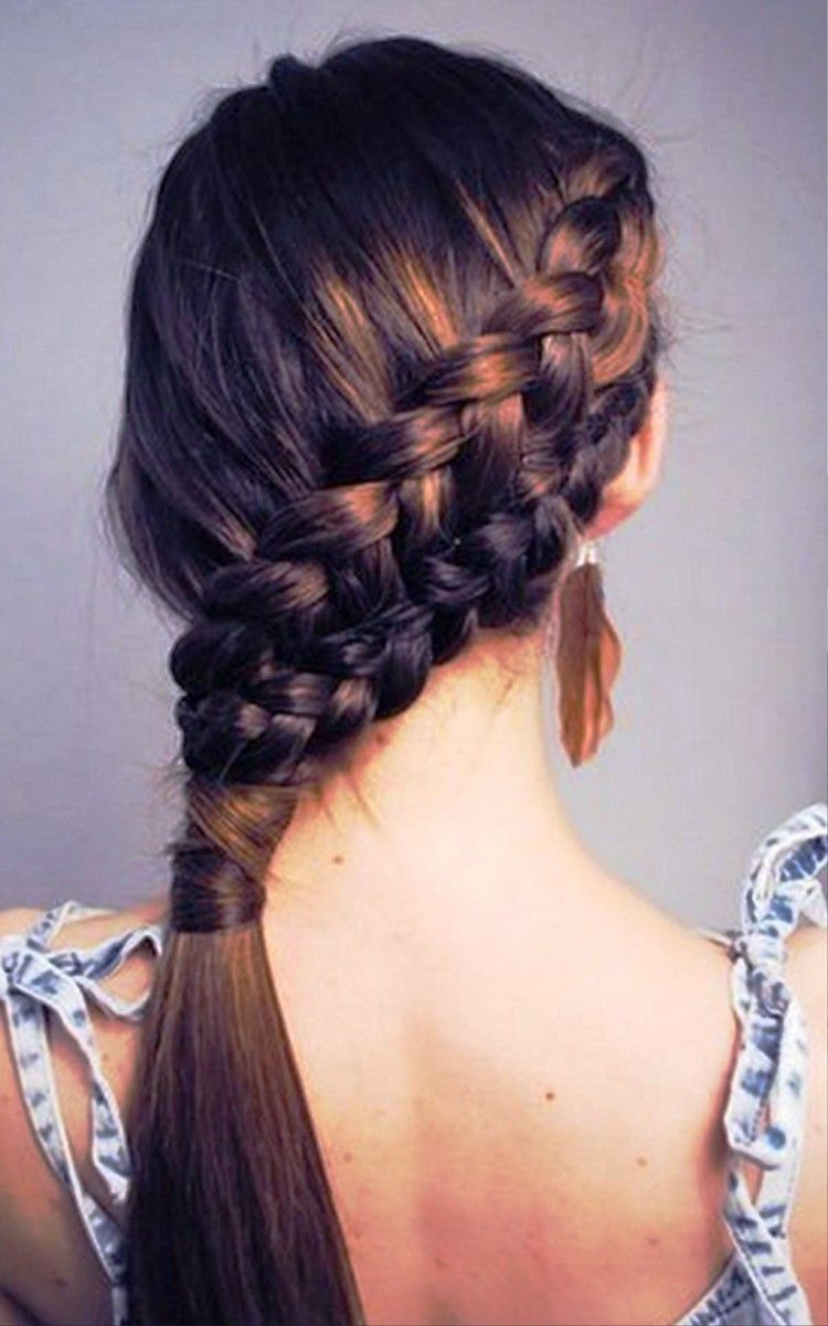 Cute hairstyles for long hair for school pictures photos