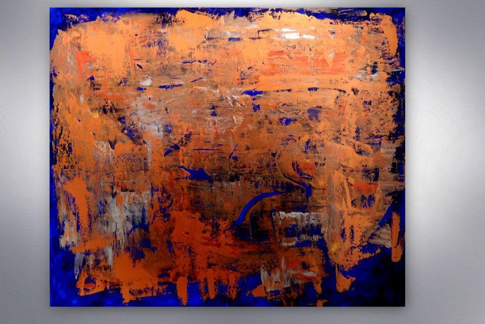 abstrakte malerei blau kupfer gemalde kaufen kunst originale unikate bilder modern kunstgalerie online shop onlin abstrakt mit blattgold selbstgemalte