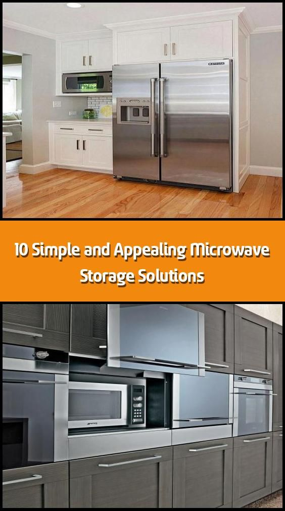 10 simple and appealing microwave storage solutions how to put your microwave neatly take the on kitchen organization microwave id=86672