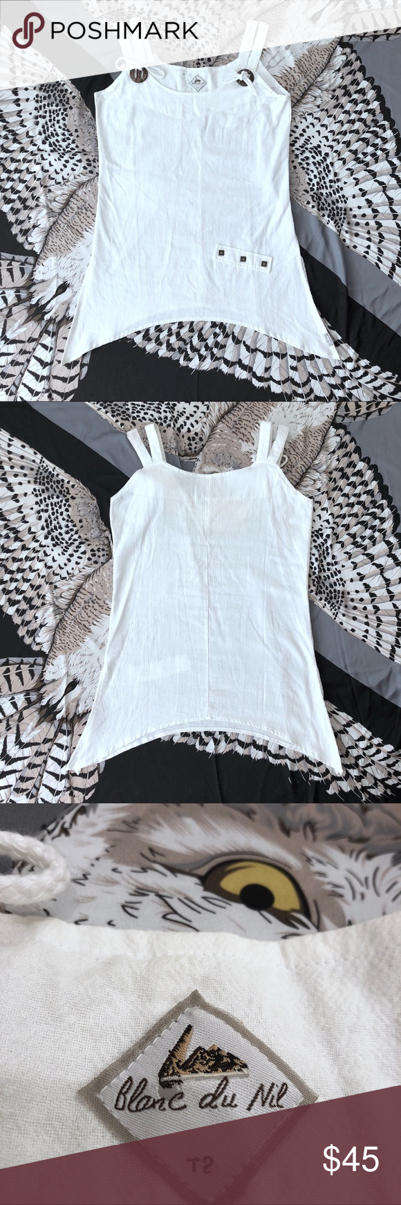 42d246b0144a8 Blanc du Nil Linen Sleeveless Top Blanc du Nil Linen Sleeveless Top. 100%  Pure