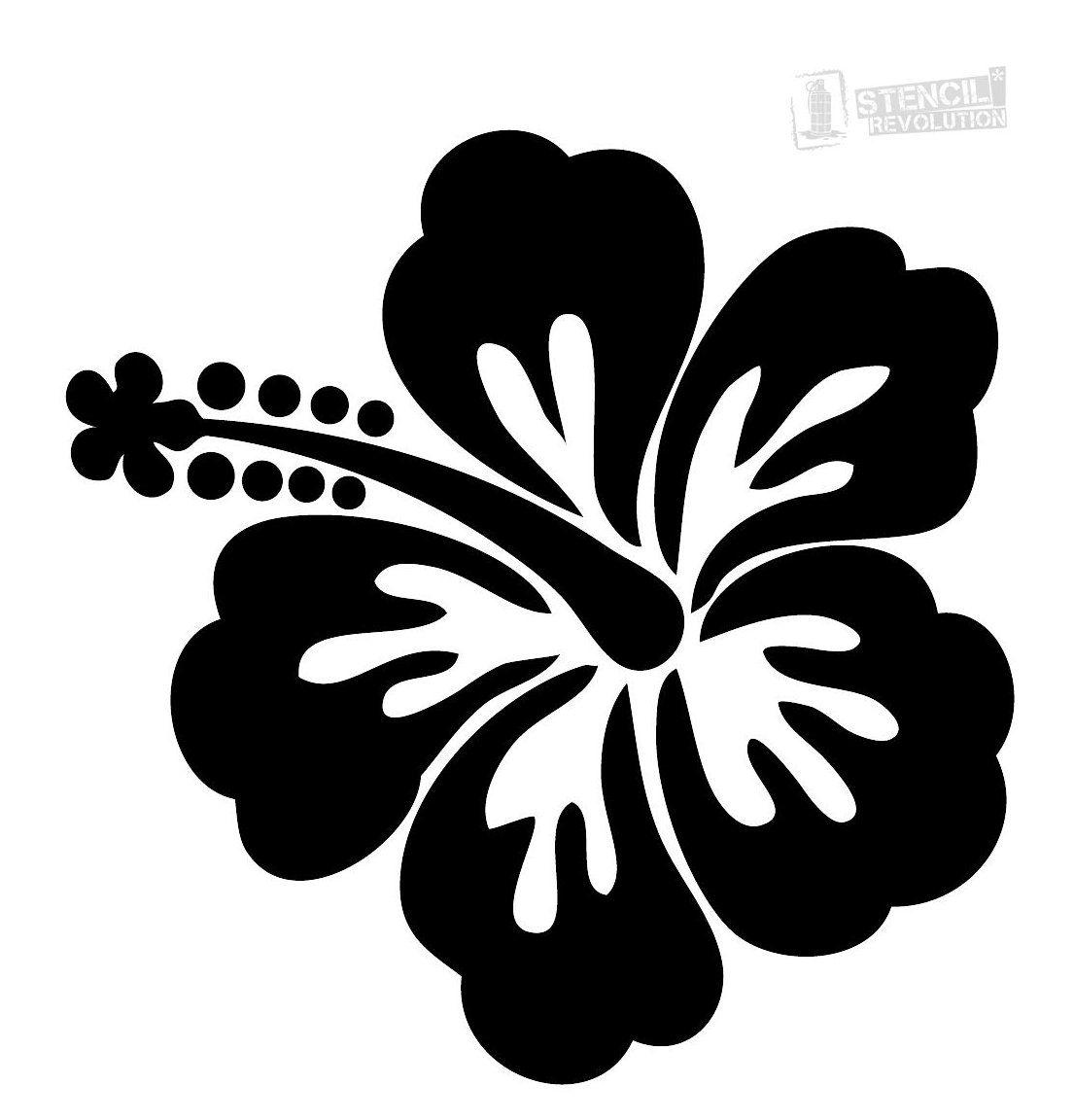 Hibiscus Flower Stencil Stencil Art Flowers Stencilartflowers Hibiscus Flowers Are Stunning And A In 2020 Flower Stencil Hawaiian Flower Drawing Flower Silhouette