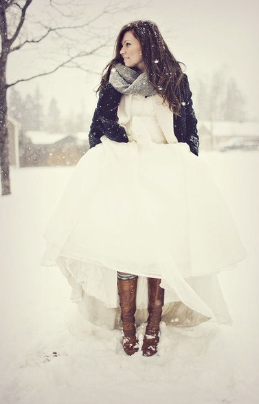 would never do a snow wedding but this is beautiful