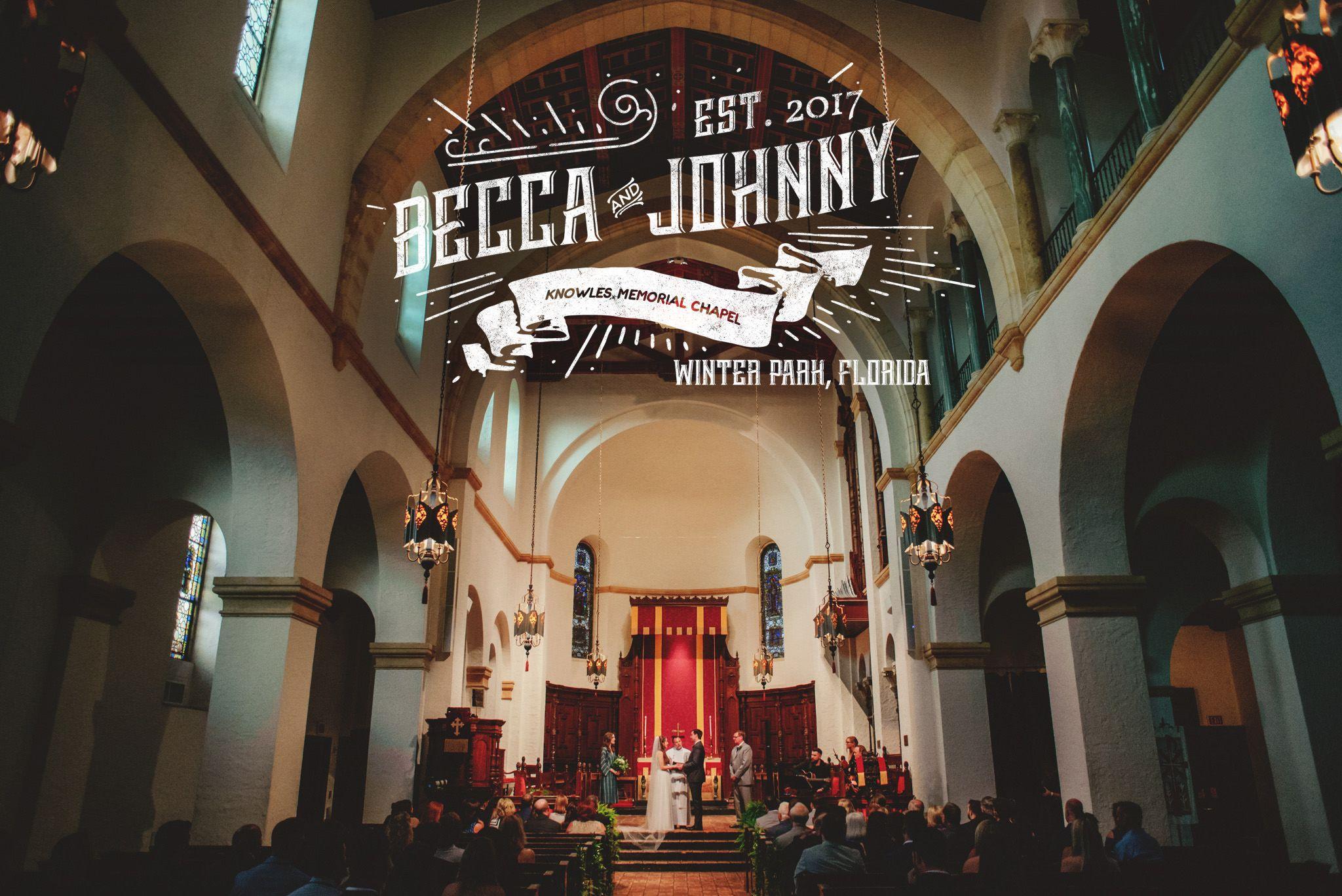 Becca Johnny Orlando Wedding Chapel Wedding