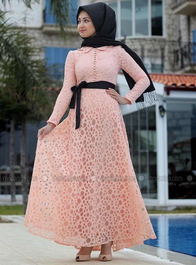 Somon Tesettur Giyim Yeni Sezon Abiye Elbise Modelleri 2016 Enmodelleri Basortusu Modasi Moda Stilleri The Dress